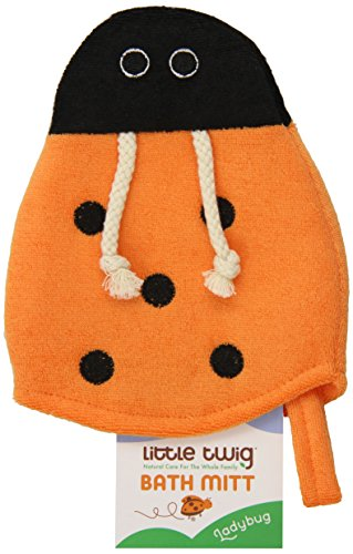Little Twig Bath Mitt, Lady Bug