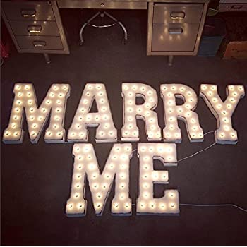 Amazon Com Creation Core 8 7 Quot Tall Large Led Marry Me