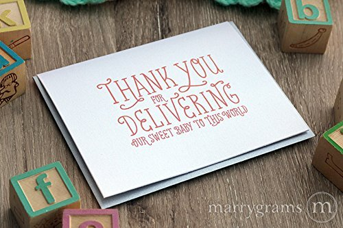 Thank You for Delivering Our Baby, New Baby OB GYN Thank You Greeting Card