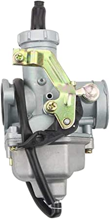 GOOFIT Carburador Moto 27mm PZ27 con Cable Choke para 4 Tiempos 100cc 125cc 150cc 175cc 200cc CB125 XL125S TRX250 TRX 250EX ATV Quad Pit Bike Motor ...