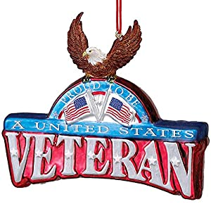 Amazon.com: Patriotic US Veterans Glass Ornaments [1J1354]: Home ...