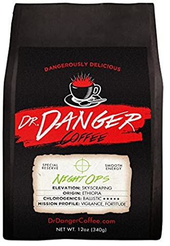 Dr Danger Coffee NIGHT OPS - DECAF Scientifically selected and roasted - whole bean — special reserve - - Reserve Proprietary Red Wine