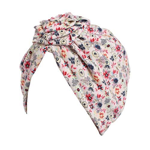 - Qhome Girls Flower Turban Hat Kids Vintage Floral Cotton Beanie Headband Children Caps Baby Bandana