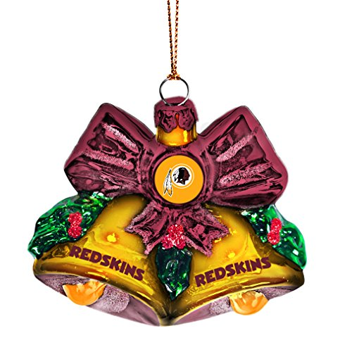 Redskins Glitter Bells Ornament