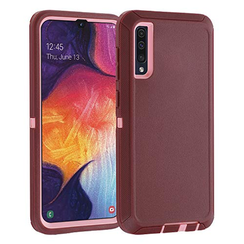 Co-Goldguard Case for Samsung Galaxy A50 / A50s, Heavy Duty Cover [NO Screen Protector] 3 in 1 Shockproof Drop-Proof Shell,Purple