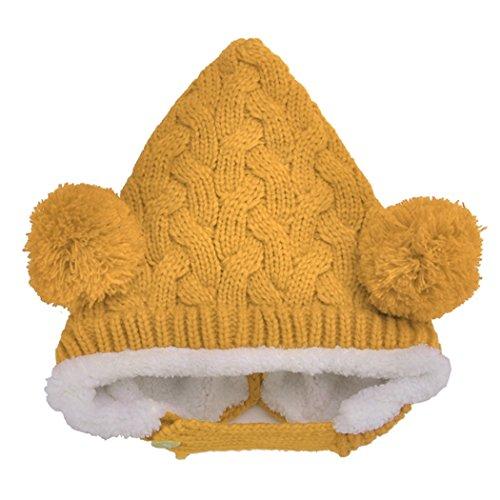 [Fanala Cute Wool Multi-colored 2 Balls Beanie Hat Equestrian Cap American Apparel Style] (Equestrian Costume Hat)