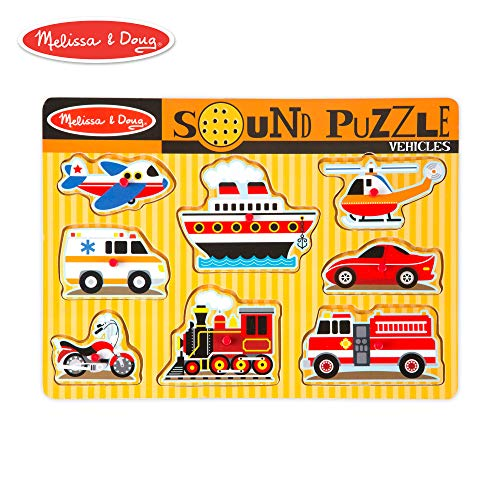 Melissa & Doug Vehicles Sound Puzzle (8 Pieces) (My Sound Stopped Working On My Mac)