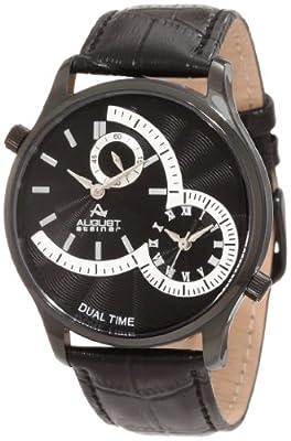 August Steiner Men's ASA810BK Stainless Steel Dual Time Watch