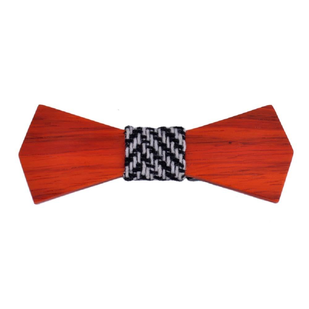 Tidoo Jewellery Mens Vintage Solid Wood Bow Tie Personalized Deign Tie for Gentlemen