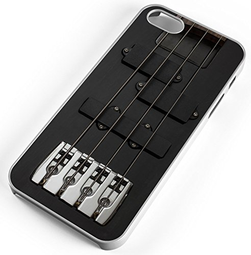 Iphone Case Fits Iphone 7 Guitar Bass Instrument Black Electrically Music White Plastic