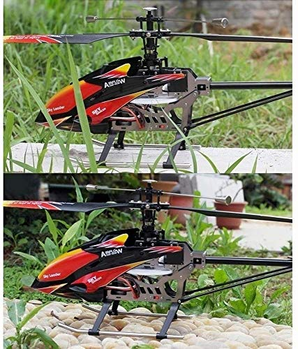 QIN 2.4GHz LCD Remote Control Helicopter - RC Helicopter with Altitude Hold, LED Lights, Built-In Gyro,360° Rotation,Anti-fall Helicopter,Rc Helicopter Birthday Gifts for Kids, 2 x Rechargeable Batter