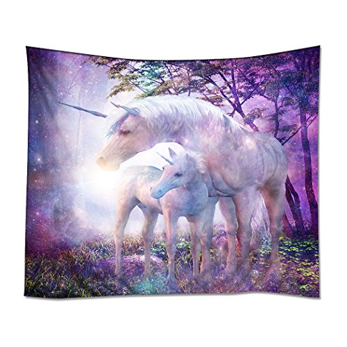 Wall Unicorn Mural - YISUMEI Tapestry Home Decorations Art Wall Hanging Hippie Tapestries 50