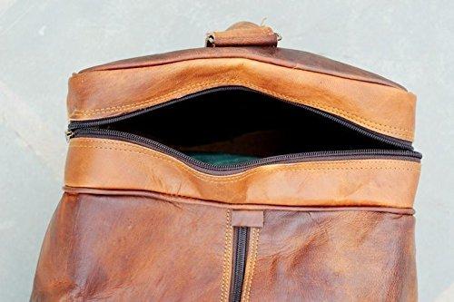 Ledertaschen Leder Reisetasche Handgepäck Umhängetasche Freizeittasche Sporttasche Weekender Geräumig Schnalle Vintage Elegant Schick Leder