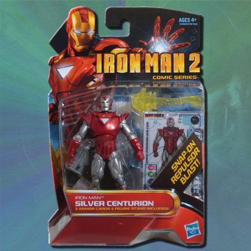 - Iron Man 2 Comic Series Action Figure #34 Silver Centurion 3.75 Inch