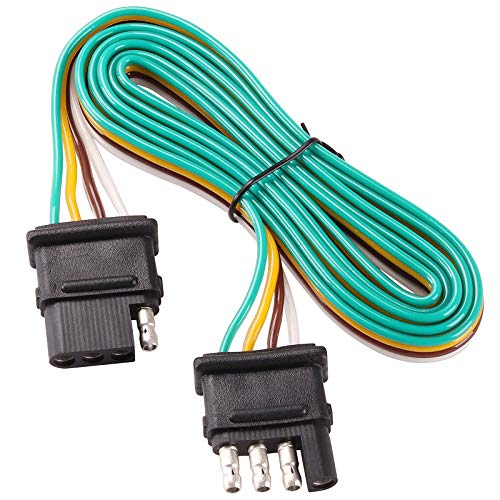 Us Car Connector - Kinstecks 60Inch 4Pin Trailer Wire Extension Hitch Light Trailer Wiring Harness Extender for LED Tailgate Light Bar Trailer Lights and Other Use