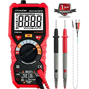 Digital Multimeter AutoRanging True RMS 6000 Counts Electrical and Continuity Tester Voltage Detection with a Lighter Diode and Resistance Test NCV Live Line Test with Lcd Backlight