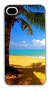 iPhone 4 4s Cases & Covers - Yellow Beach Custom PC Soft Case Cover Protector for iPhone 4 4s - White