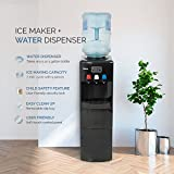 DELLA | Water Dispenser | Water Cooler | Ice Maker | Stand Up | Child Safety Lock | Hot Room Cold Temp | Home | Office | Black