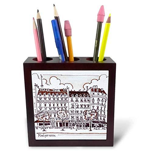 3dRose Danita Delimont - Paris - Haussmann Architecture Along Boulevard Montparnasse, Paris, France - 5 inch Tile Pen Holder (ph_313156_1)