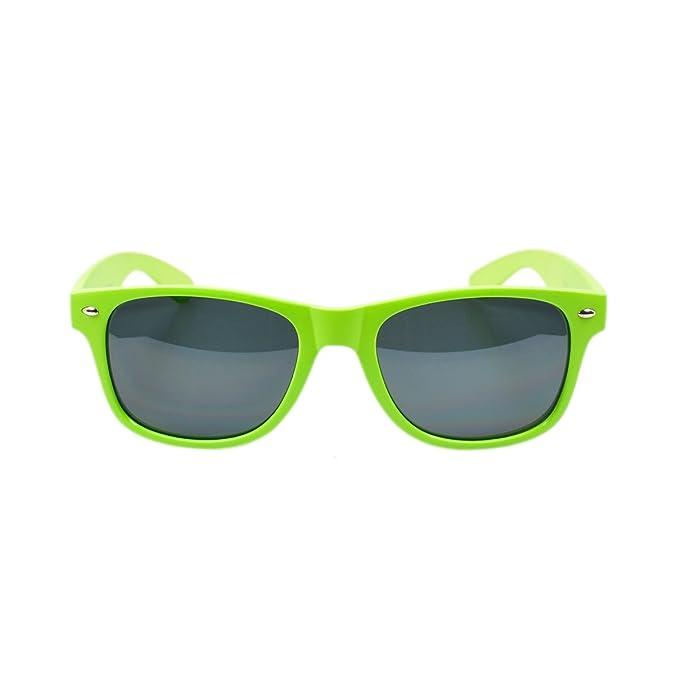 Amazon.com: Mate Color Sólido Moda anteojos de sol UV ...