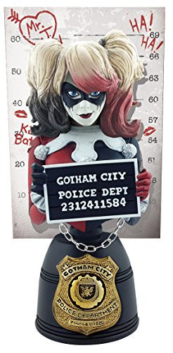 Cryptozoic DC Comics Harley Quinn (Red & Black Edition) Mugshot Bust (The Joker With Harley Quinn)