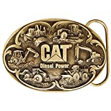 Caterpillar CAT Diesel Power Brass Finish Belt Buckle