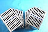 10 DENTAL AUTOCLAVE STERILIZATION CASSETTE RACK BOX TRAY FOR 10 INSTRUMENT BLUE ( CYNAMED )