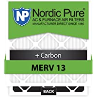 Nordic Pure 20x22x1 MERV 13 Plus Carbon AC Furnace Filters Qty 6