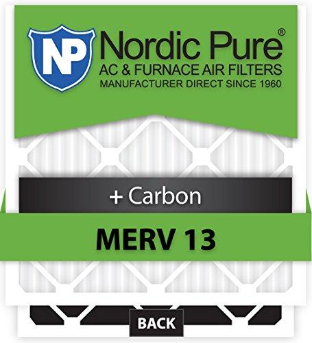 Nordic Pure 19x27x1ExactCustomM13+C-6 Merv 13 + Carbon AC Furnace Filter, 6 Piece