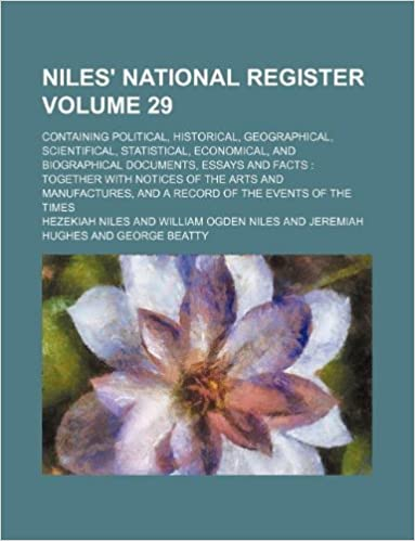 Niles' national register Volume 29 : containing political, historical, geographical, scientifical, statistical, economical, and biographical ... and a record of the events of the