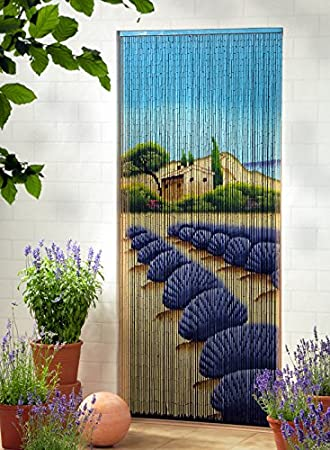 Unbekannt Bambusvorhang Turvorhang Dekovorhang Lavendel Xl 115x220cm