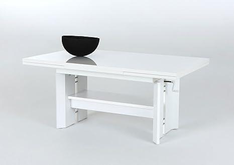 Tavolo Salotto Estendibile.Tavolino Da Salotto Danko Bianco Lucido 110 180 X68 X 50