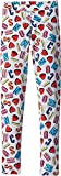 Moschino Kids Girl's All Over Logo Heart Print Leggings (Big Kids) Multi 10