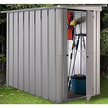 Yardmaster - Caseta para jardín (tejado inclinado, metal, 1, 20 x 1, 58 m): Amazon.es: Jardín