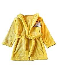 EnjoCho Clearance Sale! Children Towel Beach Baby Bath Robe Cartoon Cat Animals Hooded Bathrobes for Boys Girls Pyjamas Nightgown Kids Sleepwear Robe (Age:18-24 Months, Yellow)