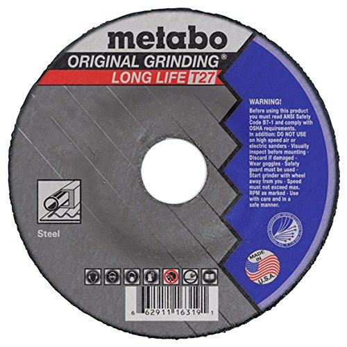 (Metabo 6 x 1/4 x 7/8-Inch A24R Type 27 Long Life Grinding Wheel - 25pk)