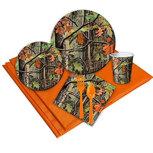Hunting Camo Childrens Birthday Party Supplies - Tableware Party Pack (16)]()