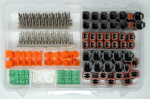DEUTSCH 230 PCS DT 2 & 4 PIN GRAY CONNECTOR KIT STAMPED -