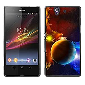 Be Good Phone Accessory // Dura Cáscara cubierta Protectora Caso Carcasa Funda de Protección para Sony Xperia Z L36H C6602 C6603 C6606 C6616 // Space Planet Galaxy Stars 45