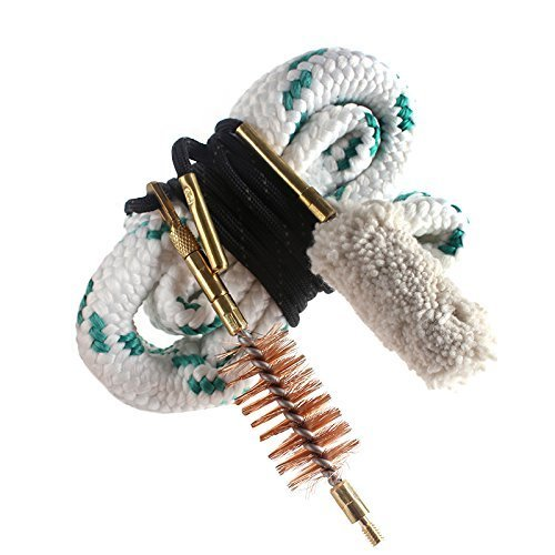 Gun Bore Snake Barrel Cleaner for Rifle Pistol Shotgun, Brushes Included (Choose Your Caliber) (12 GA Gauge (New))