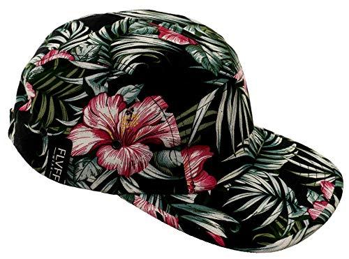 FLVFF 5 Panel Hat for Men Flat Brim Baseball Cap Urban Street Camper Hats (Floral 6, Challis)