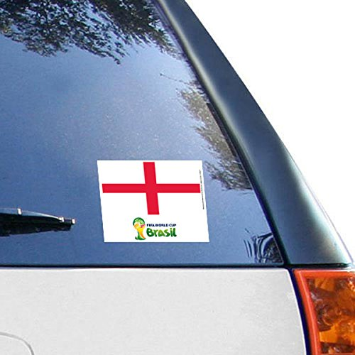 """England WinCraft 2014 FIFA World Cup 5"""" x 6"""" Cling Decal"""