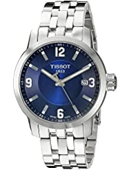 Tissot PRC 200 Blue Dial Stainless Steel Quartz Ladies Watch T0554101104700