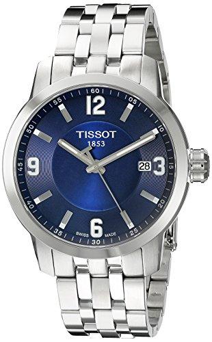 Tissot PRC 200 Blue Dial Stainless Steel Quartz Ladies Watch T0554101104700