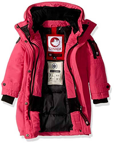 Girls' Outerwear Available Toddler Parka Jacket Hooded More cw046 Canada Natural Weather Styles Gear fuchsia qftwBFAWp