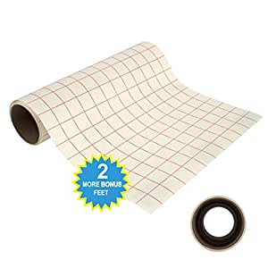 30.5cm by 2.4m Transfer Paper Tape Roll w/ Grid - PERFECT ALIGNMENT of Cricut or Cameo Self Adhesive Vinyl for Walls, Signs, Decals, Windows, and other Smooth Surfaces (12in. x 8ft.)