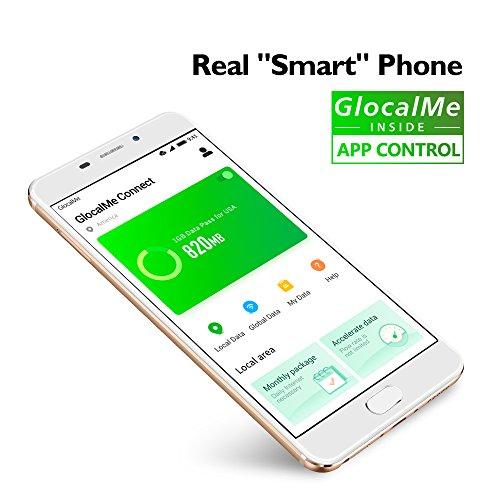 GlocalMe S1/G1701 Unlocked Smartphone with 20GB Global Data - SIM