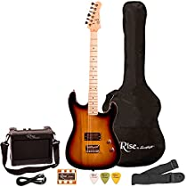 Rise by Sawtooth ST-RISE-ST-SB-KIT-1 Electric Guitar Pack, Sunburst