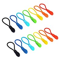 Maosifang 70 Pieces Nylon Zipper Pull Cord Zipper Extension Zipper Tag Replacement Zipper Fixer,7 Colors