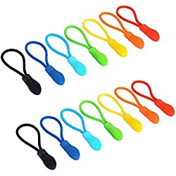 Maosifang 70 Pieces Nylon Zipper Pull Cord Zipper Extension Zipper Tag Replacement Zipper Fixer,7 Colors